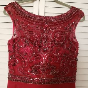 Ed Young Red Jeweled Dress